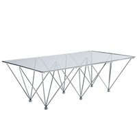 Prism Rectangle Coffee Table Clear EEI-260