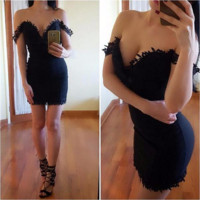Beautiful Sexy Slim Waist Mini Short Dress