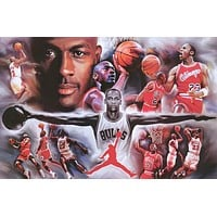 Michael Jordan Airness Basketball Poster 24x36