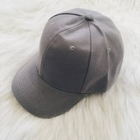 Curved Visor Cap (Gray)