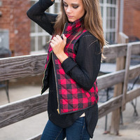 Cross Country Commute Vest, Red-Black