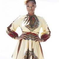 Dashiki Shorty mini Dress