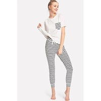 Striped Pocket PJ Set