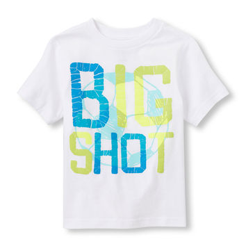 Toddler Boys 'Big Shot' Soccer Graphic Tee   The Children's Place