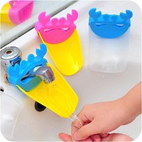 Set Of 3 Bathroom Sink Faucet Extender Assistant Hand Washing For Kids or Toddlers