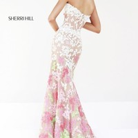 Sheer Embellished Gown by Sherri Hill