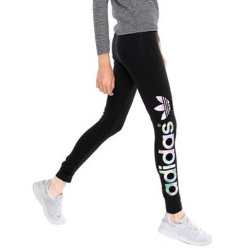 """Adidas"" Women Fashion Print Stretch Exercise Fitness Pants Trousers Leggings Sweatpants"