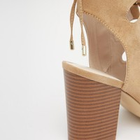 New Look Wide Fit Lace Up Block Heeled Sandal