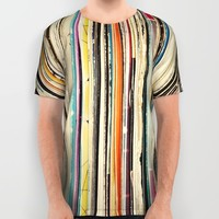 Record Collection All Over Print Shirt by Cassia Beck