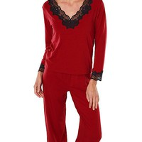 Softies Nicole Tunic-Style Pajamas w/Lace Trim (XL only)