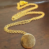 Beautiful delicate dainty necklace gold plated circle flat charm/pendant gift jewelry statement necklace adjustable