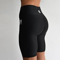 Bike Shorts | Scrunch Bum Black