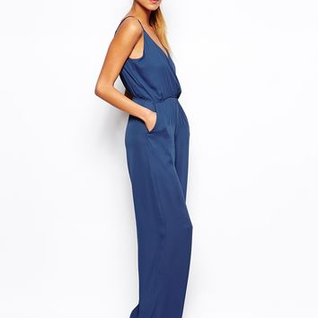 TFNC Jumpsuit with Cami Straps