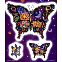 Dan Morris - Celestial Day and Night Butterfly - Large Sticker Set