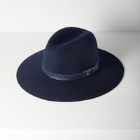 Rag & Bone - Wide Brim Fedora, Navy