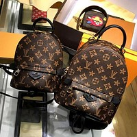 Tagre™ LV Louis Vuitton Women Casual Daypack School Bag Cowhide Leather Backpack