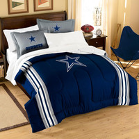 Dallas Cowboys NFL Embroidered Comforter Twin-Full (Contrast Series) (64 x 86)