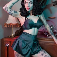 Teal French Knicker