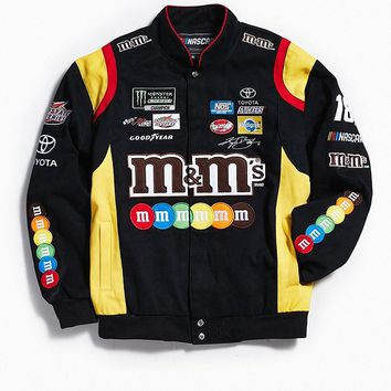 JH Design M&Ms NASCAR Jacket   Urban Outfitters