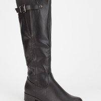 Soda Encina Womens Riding Boots Black  In Sizes