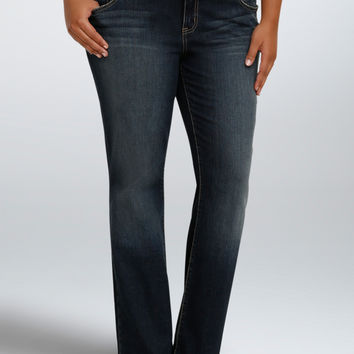 Torrid Relaxed Boot Jeans - Dark Wash with Grommet Pockets (Regular)