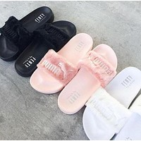 Fashion Puma Rihanna Fenty Leadcat Fur Slipper Shoes