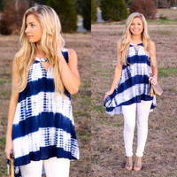 Stripped High-Low Blouse