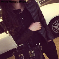 Winter Spring Women in Europe and America a thin short section of cultivating outwear cotton padded warm jacket outwear