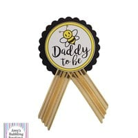 What will it Bee Baby Shower Pin - Daddy to be or Mommy to Be pin to wear at Baby Shower or Baby Sprinkle
