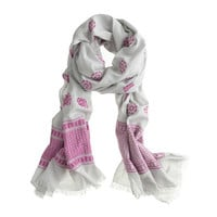 Pink patterns scarf - scarves & hats - Women's accessories - J.Crew