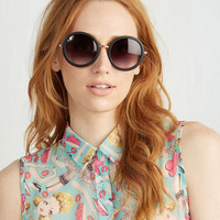 Vintage Inspired The Music Seen Sunglasses in Black by ModCloth