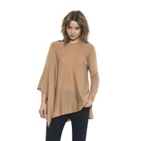 Womens Long Sleeve Sand Jett Poncho Pullover Sweater By One Grey Day
