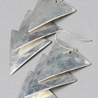 *Accessories Boutique The Hammered Triangle Earring in Silver : Karmaloop.com - Global Concrete Culture