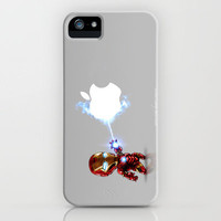Ironman...damn apple! it's too hard to destroy!!!! iPhone Case by Emiliano Morciano (Ateyo)   Society6