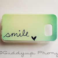 Samsung Galaxy S6 Quote Smile Case Soft Plastic Galaxy S6 Back Cover Cute Samsung S6 Cover