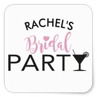 Bridal Party Custom Team Bride Cocktail Stickers
