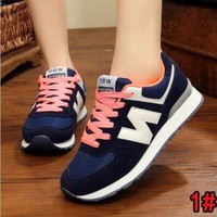 """New Balance"" Fashion Women Men Casual All-Match N Words Sport Breathable Couple Sneakers Shoes 1#"