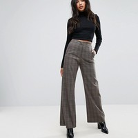 Missguided Check Wide Leg Pants at asos.com