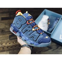Nike Air More Uptempo blue Basketball shoe Size 40-46