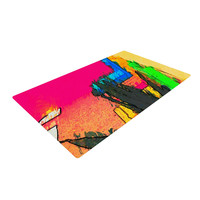 "Oriana Cordero ""Days of Summer"" Rainbow Abstract Woven Area Rug"