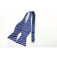 The Striped Bow Tie-Blue