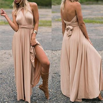 Womens Sexy Long Dress Bridesmaid Formal Multi Way Wrap Convertible Infinity Maxi Party Dress Assorted Colors FREE SHIPPING