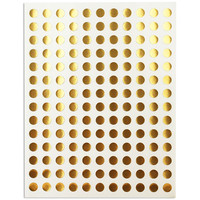 Gold Polka Dot Stickers