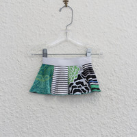 Onsie Skirt for 3 to 6 Month Old Made from Upcycled T Shirts, Baby Skirt, Recycled Tshirt Skirt, Infant Onsie Skirt, (13)