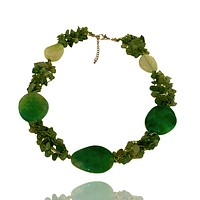 Agate and Natural Chip Stone Necklace
