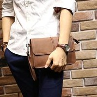 Bleeker Tanned Square Clutch