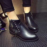 Dr Martens Rivet Thick Crust Pointed Toe Punk Boots [9432936266]