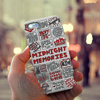 Midnight Memories One Direction Collage Case for Iphone 4, 4s, Iphone 5, 5s, Iphone 5c, Samsung Galaxy S3, S4, S5, Galaxy Note 2, Note 3.
