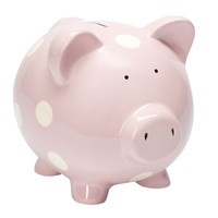 Classic Piggy Bank (Pastel Pink)