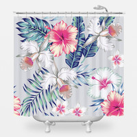 Honolulu Flowers Shower Curtain
